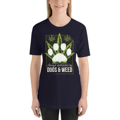 Dogs and Weed Women's T-Shirt MatchingStyle.com Navy S