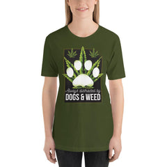 Dogs and Weed Women's T-Shirt MatchingStyle.com Olive S