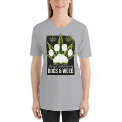Dogs and Weed Women's T-Shirt MatchingStyle.com Silver S