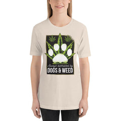 Dogs and Weed Women's T-Shirt MatchingStyle.com Soft Cream S