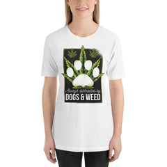 Dogs and Weed Women's T-Shirt MatchingStyle.com White S