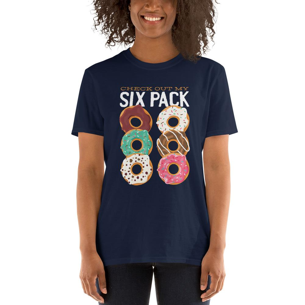 Donut Six Pack Women's T-Shirt MatchingStyle.com Navy S