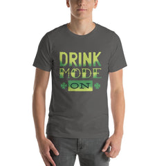 Drink Mode On Men's T-Shirt MatchingStyle.com Asphalt S