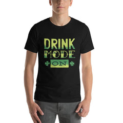 Drink Mode On Men's T-Shirt MatchingStyle.com Black S