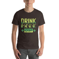 Drink Mode On Men's T-Shirt MatchingStyle.com Brown S