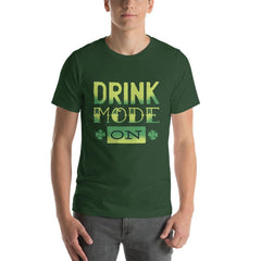 Drink Mode On Men's T-Shirt MatchingStyle.com Forest S