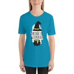 Drink Up Witches Women's T-Shirt MatchingStyle.com Aqua S