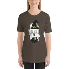 Drink Up Witches Women's T-Shirt MatchingStyle.com Army S