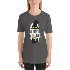 Drink Up Witches Women's T-Shirt MatchingStyle.com Asphalt S