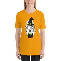 Drink Up Witches Women's T-Shirt MatchingStyle.com Gold S