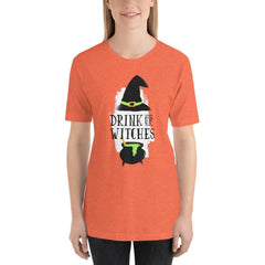 Drink Up Witches Women's T-Shirt MatchingStyle.com Heather Orange S