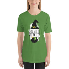 Drink Up Witches Women's T-Shirt MatchingStyle.com Leaf S