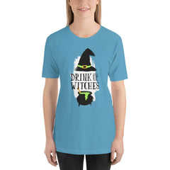 Drink Up Witches Women's T-Shirt MatchingStyle.com Ocean Blue S