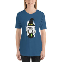Drink Up Witches Women's T-Shirt MatchingStyle.com Steel Blue S