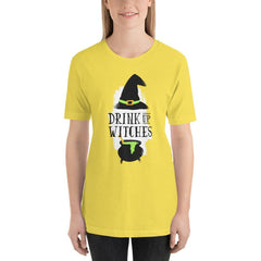 Drink Up Witches Women's T-Shirt MatchingStyle.com Yellow S