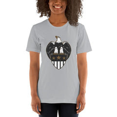 Eagle Shield Women's T-Shirt MatchingStyle.com Silver S