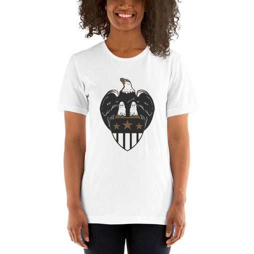 Eagle Shield Women's T-Shirt MatchingStyle.com White S