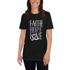Faith Hope Love Women's T-Shirt MatchingStyle.com Black S