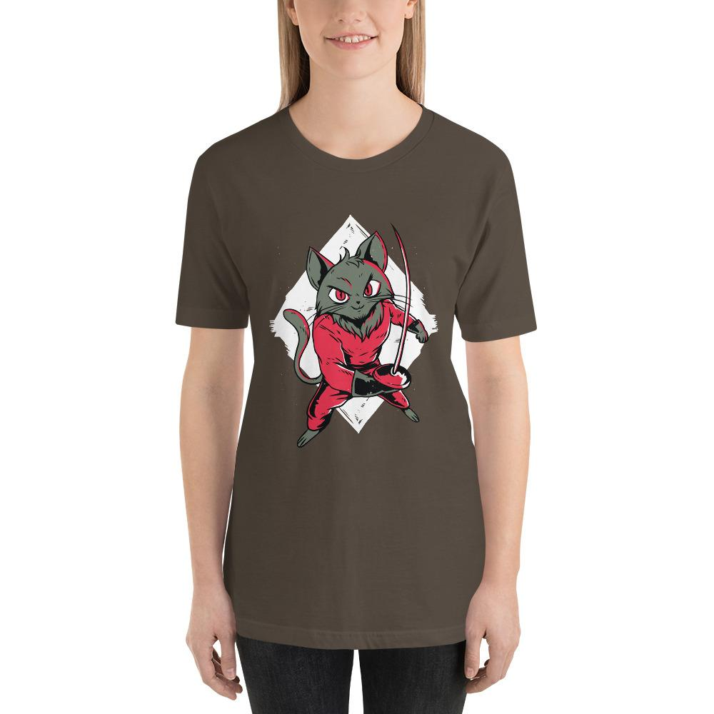 Fencing Cat Women's T-Shirt MatchingStyle.com Army S