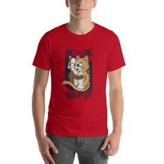 Funny Cats Men's T-Shirt MatchingStyle.com Red S