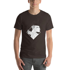 Girl Pouting Men's T-Shirt MatchingStyle.com Brown S
