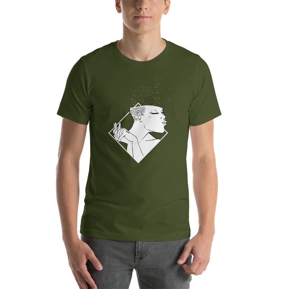 Girl Pouting Men's T-Shirt MatchingStyle.com Olive S