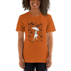 Girl With Umbrella Women's T-Shirt MatchingStyle.com Autumn S