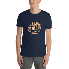 Go Back Men's T-Shirt MatchingStyle.com Navy S