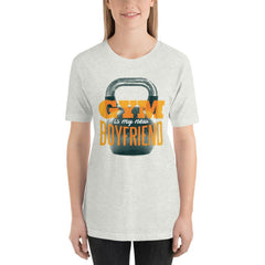 Gym is my new Boyfriend Women's T-Shirt MatchingStyle.com Ash S