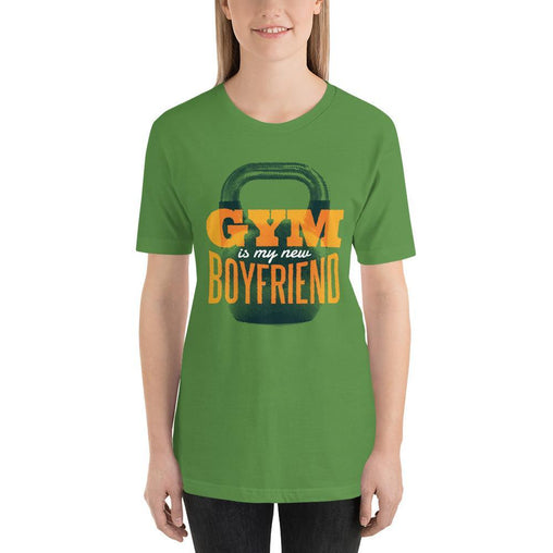 Gym is my new Boyfriend Women's T-Shirt MatchingStyle.com Leaf S