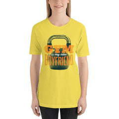 Gym is my new Boyfriend Women's T-Shirt MatchingStyle.com Yellow S