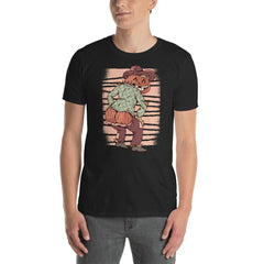 Halloween Scarecrow Pumpkin Men's T-Shirt MatchingStyle.com Black S