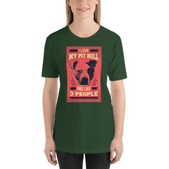 I Love My Pit Bull And Like 3 People Women's T-Shirt MatchingStyle.com Forest S