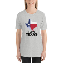I Love Texas Women's T-Shirt MatchingStyle.com Athletic Heather S