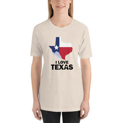 I Love Texas Women's T-Shirt MatchingStyle.com Soft Cream S