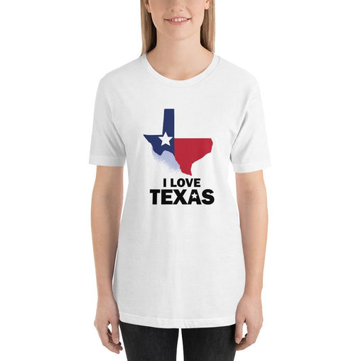 I Love Texas Women's T-Shirt MatchingStyle.com White S