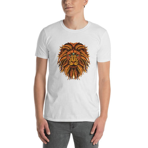 Lion Mandala Men T-Shirt MatchingStyle.com White S