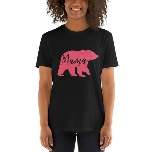 Mama Bear Women's T-Shirt MatchingStyle.com Black S