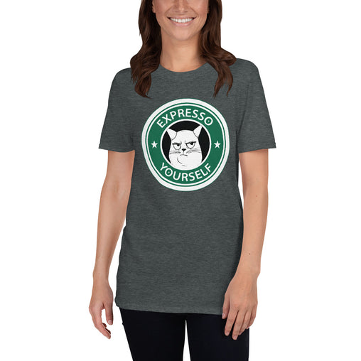 Grumpy Expresso Cat Women's T-Shirt