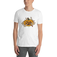 Smoking Pumpkin Men's T-Shirt