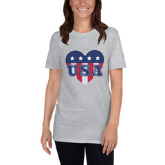 USA Heart Women's T-Shirt