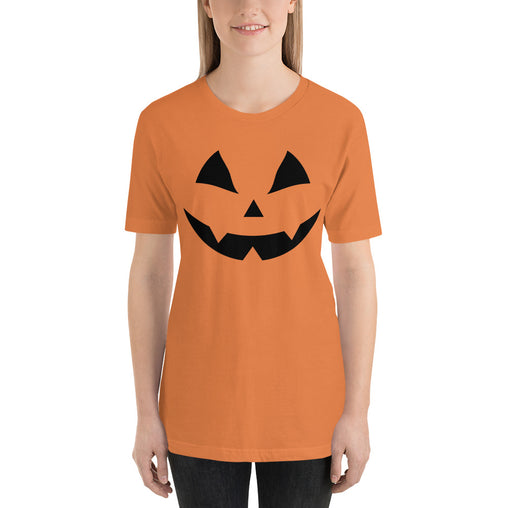 Carved Pumpkin Face Women's Halloween T-Shirt