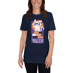 Cute Nerd Cat Women's T-Shirt