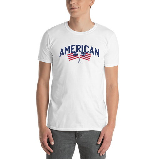 Two American Flag Men's T-Shirt