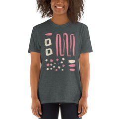Abstract Pink White Women's T-Shirt
