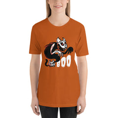 Scary Halloween Boo Ghost Cat Women's T-Shirt