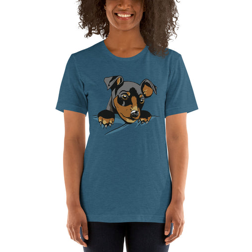 Dog Peeking Women's T-Shirt