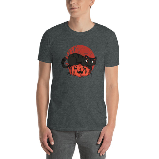 Cute Cat Pumpkin Men's T-Shirt