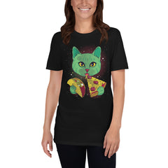 Cat Eating Taco & Pizza Slice Women's T-Shirt