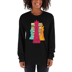 Chess Pieces Long Sleeve Women's T-Shirt